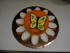 Butterfly on Flower Cake