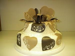 Scroll Heart Cake