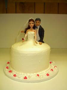 Barbie and Ken Wedding Cake