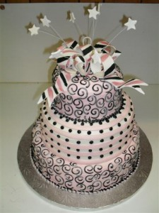 swirls and whirls cake